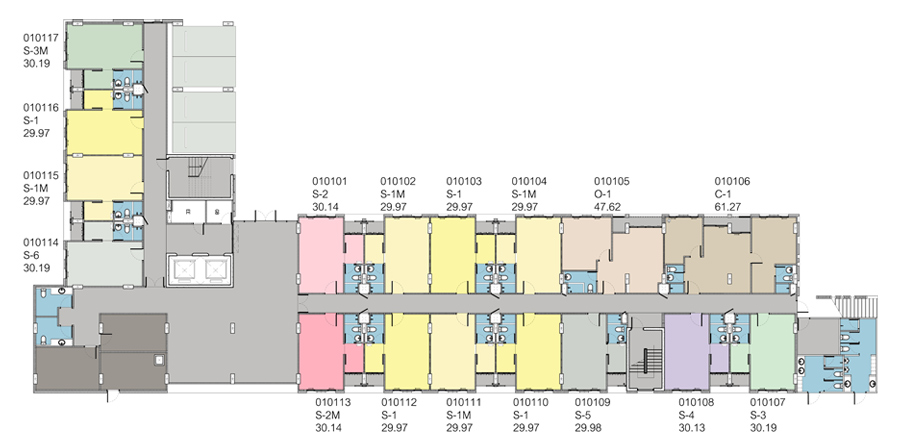 แปลนอาคาร ชั้น 1